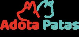 Silhueta de cachorro e gato, logotipo do Adota Patas